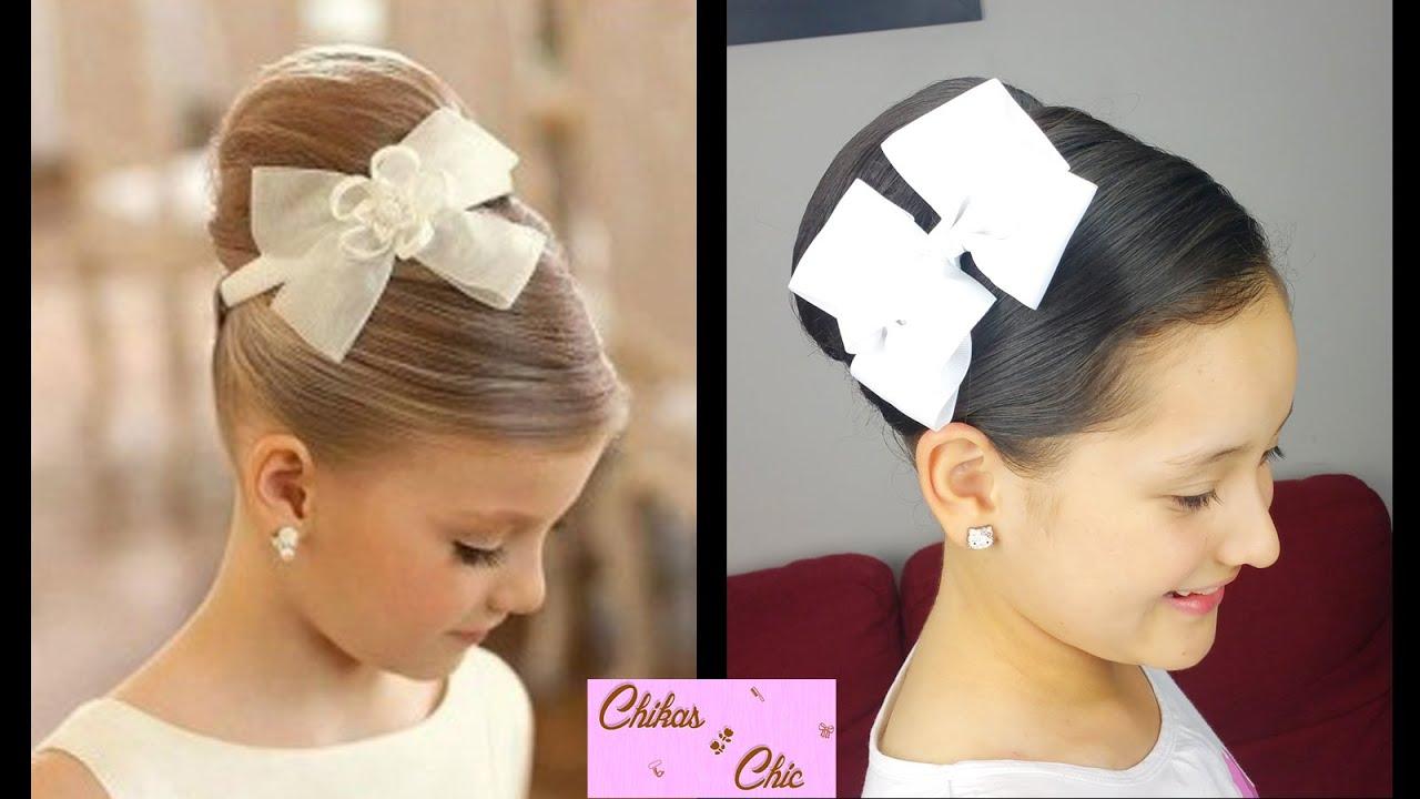 Instrucciones peinados niñas boda Galeria De Cortes De Pelo Tendencias - Elegant High Chignon | Prom Hairstyles | Cute Girly ...