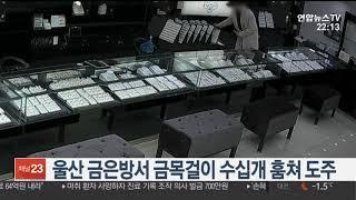 울산 금은방서 금목걸이 수십개 훔쳐 도주 / 연합뉴스TV (YonhapnewsTV)