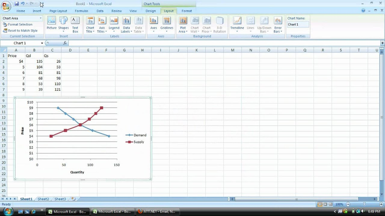 How to change the x and y axis in excel 2007 when creating supply how to change the x and y axis in excel 2007 when creating supply and demand graphs youtube ccuart Choice Image