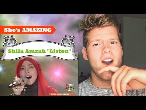 Reaction Shila Amzah - Listen | I Am A Singer (SHE'S AMAZING)