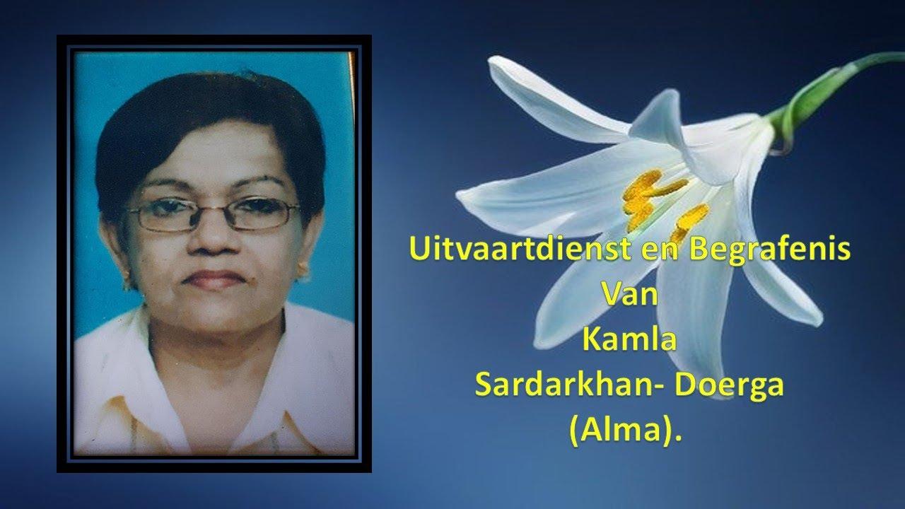 Download UItvaartdienst en begeafenis van Kamla Sardarkhan- Doerga (Alma).