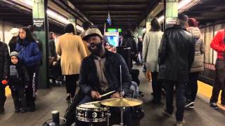 Mr. Reed performs at Bedford ave Stop