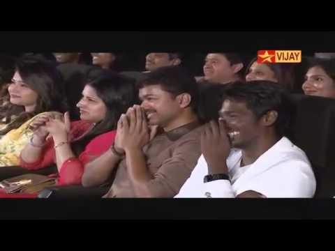 Theri audio lanch actor Mottai Rajendran speech.. (I AM WAITING).....