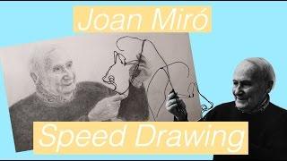 Joan Miró Speed Drawing