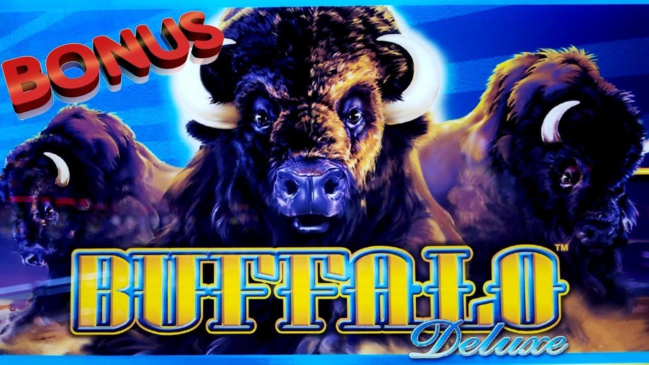 Buffalo Deluxe Slot Machine $12.50 A Spin Bonus Win & Re-TRIGGERS !   SE-3   EP-2
