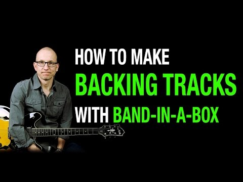 Tutorial Band in a Box: How to create a Real Backing Track