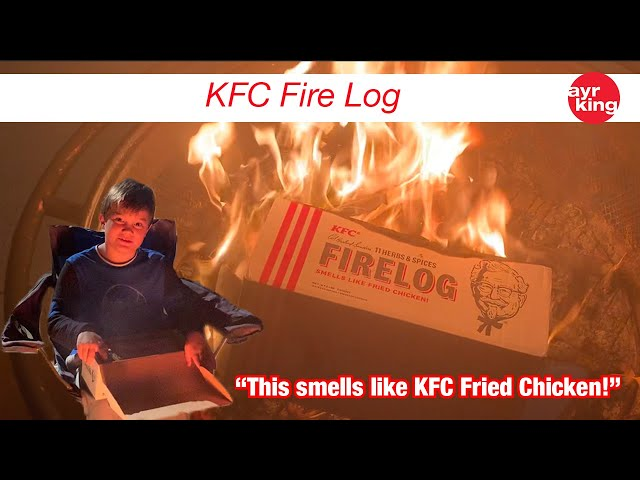 FRIED CHICKEN MERCHANDISE: KFC FIRELOG