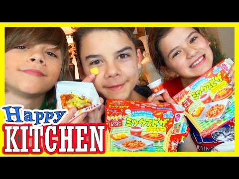 POPIN' COOKIN' PIZZA! | KRACIE | HAPPY KITCHEN!  |  KITTIESMAMA
