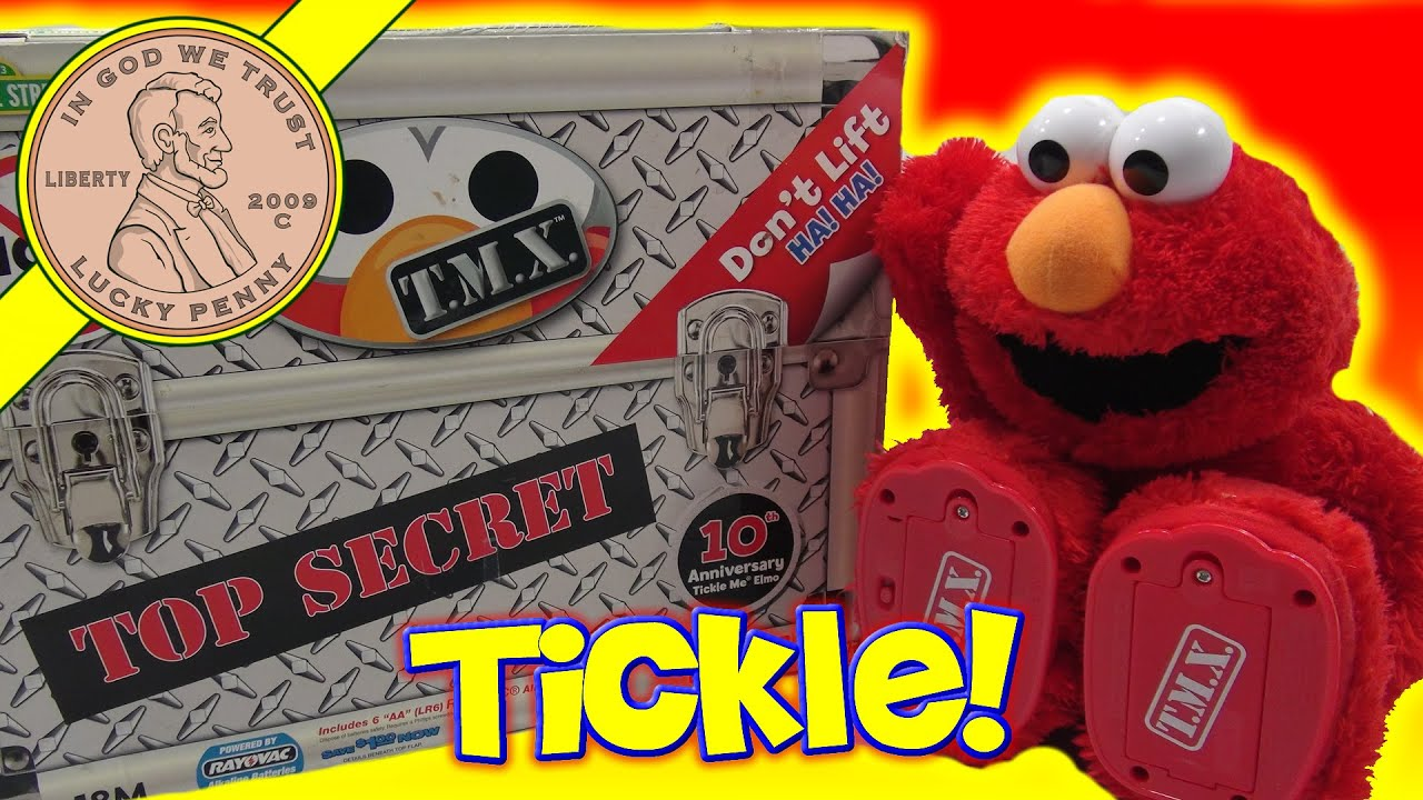 Fisher Price Tickle Me Elmo Top Secret T M X 10th Anniversary Kids Plush Toy You