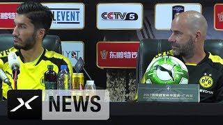 Skurril: Peter Bosz und Nuri Sahin sichtlich irritiert | Borussia Dortmund
