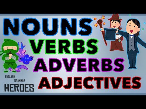Nouns, Verbs, Adjectives & Adverbs - Animated Explanation