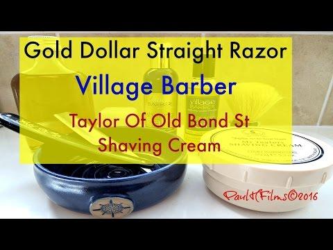 Gold Dollar - Straight Razor Shave