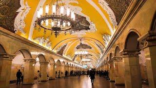 ⁴ᴷ⁶⁰ Прогулка по Метро Москвы: Кольцевая Линия Метро