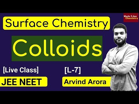 (L-7) Colloids || Surface Chemistry || JEE NEET || By Arvind Arora