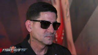 Angel Garcia's reaction to almost brawling w/Ruben Guerrero at Garcia Guerrero press conference