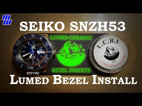 Seiko SNZH53 Lumed Ceramic Bezel Insert install + Fails + Bleeped FBombs + Glorious End Shots