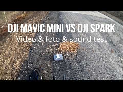 DJI Mavic Mini Vs DJI Spark - Video & Foto & Sound Test