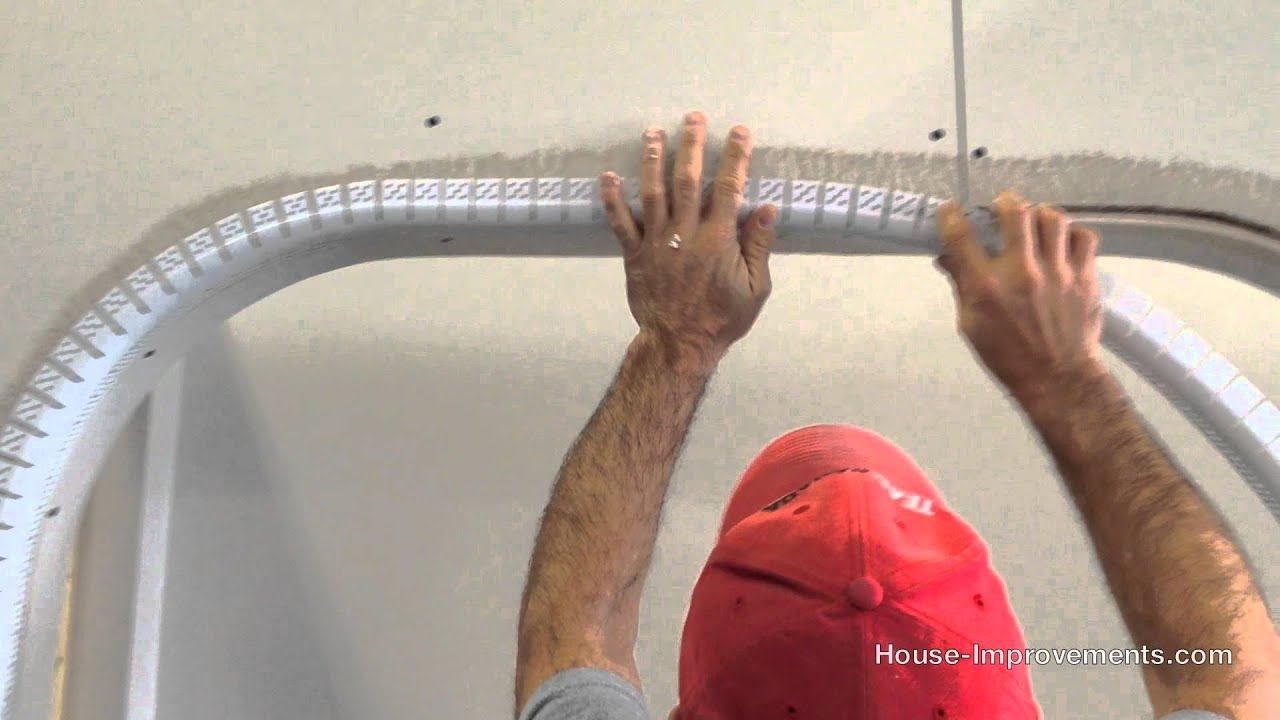 How To Install Bullnose Drywall Corner Bead Youtube