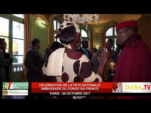 Cérémonie du 57e anniversaire de l'indépendance du Congo. Paris 06 octobre 2017
