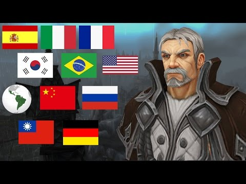 WOW LEGION: Genn Greymane's Voice In 11 Different Languages / Voice Comparison (Stormheim Cutscene)