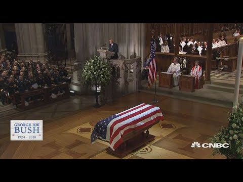 President George HW Bushs funeral - Biographer Jon Meacham delivers his eulogy