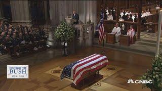 President George Hw Bush's Funeral - Biographer Jon Meacham Delivers His Eulogy