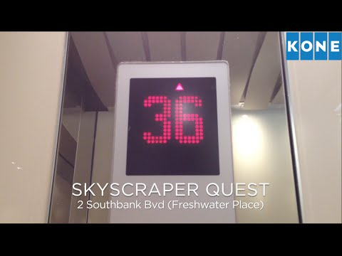 SKYSCRAPER QUEST 2-4: Kone Alta Hi-speed Traction Lifts @ 2 Southbank Bvd (Freshwater Place)