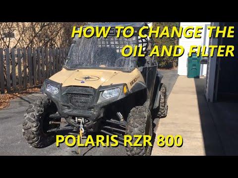 How to Change Oil & Filter on Polaris RZR 800