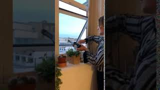 Man Drops Wine Bottle Out Window Attempting to Open it with Knife - 1043245