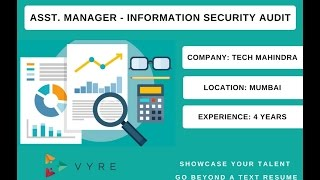 Jobs @ Vyre.co - Assistant Manager - Information Security Audit