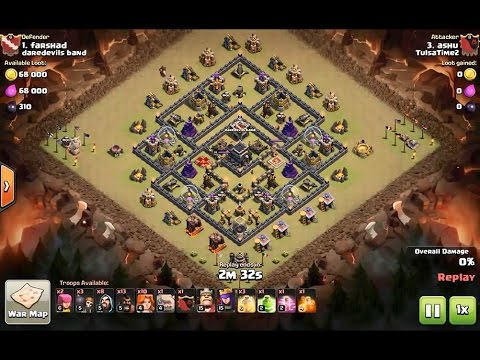 How to 3 star diamond moats th9 popular forum base - clash of clans