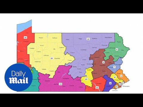 Pennsylvania's top court unveiled new congressional voting map - Daily Mail