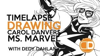 Ms. Marvel Timelapse Drawing