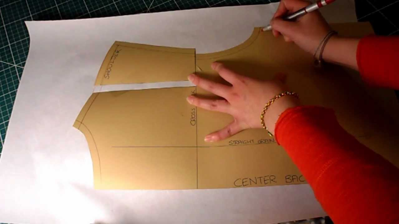 Pattern cutting tutorial how to increasealter pattern for broad pattern cutting tutorial how to increasealter pattern for broadwide shoulders and back youtube jeuxipadfo Image collections
