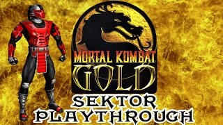 Mortal Kombat Gold Sektor Playthrough (Difficulty : Ultimate) HD 60fps
