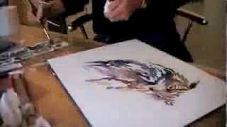 Speed painting of an Eagle Owl