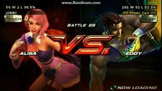 tekken 6 - Alisa - 20 rounds of arcade gameplay - 1080p -  ppsspp emulator 2017