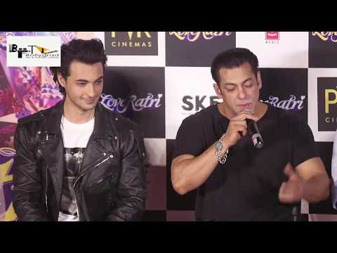 LIVE Salman Khan Launches Brother in Law Ayush Sharma's Film LOVE RATRI Trailer Complete Video HD