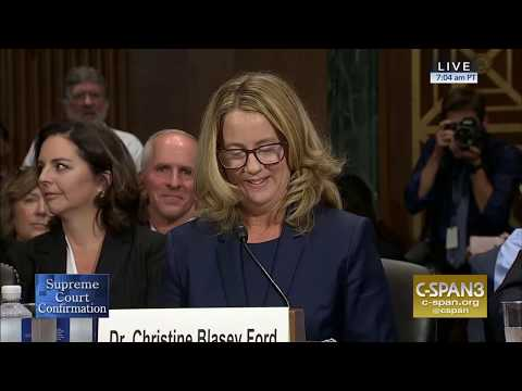 LIVE: Professor Christine Blasey Ford & Supreme Court nomine