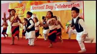 Newari dance by kindergarten students
