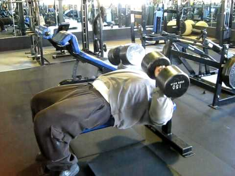 Horace Lane Dumbell Presses with 150's
