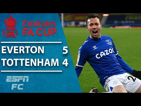 Everton outlasts Tottenham in 9-GOAL THRILLER! | ESPN FC FA Cup Highlights
