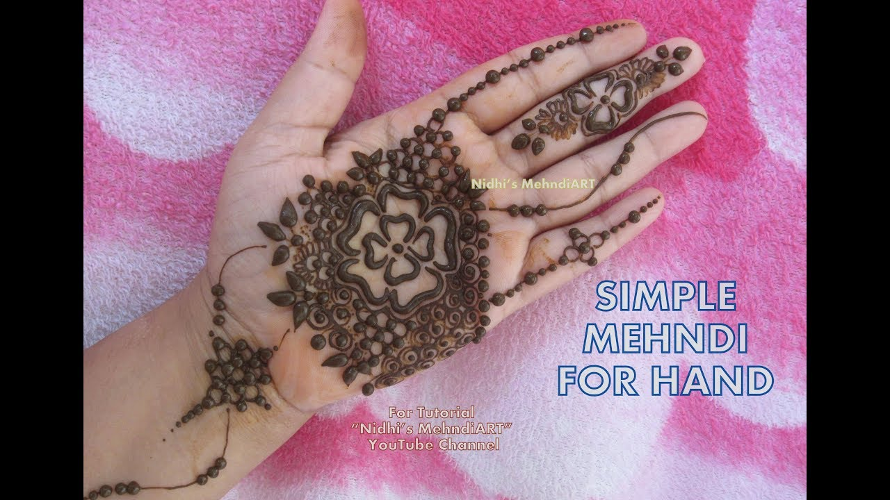 Mehndi For Kids Front : Simple mehndi designs for front hands kids beginners