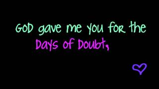 God Gave Me You - Dave Barnes (lyrics)