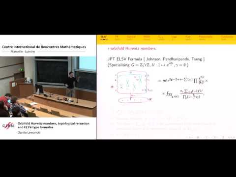 Danilo Lewanski :  Orbifold Hurwitz numbers, topological recursion and ELSV-type formulae