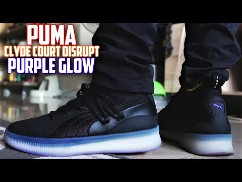 7c23f33bb6c Puma Clyde Court Disrupt PURPLE GLOW Review and On-Feet ...