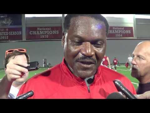 Ohio State DL coach Larry Johnson 08/24/16 - ELEVENWARRIORS.COM