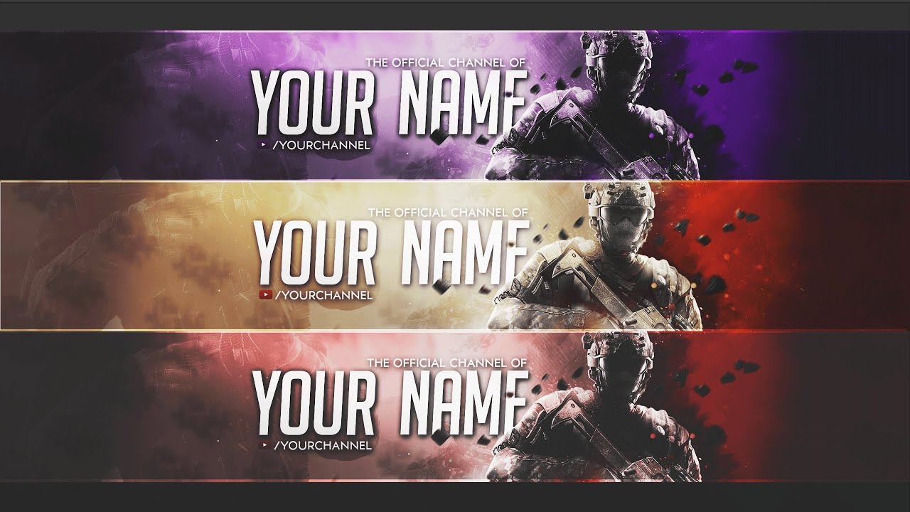 call of duty banner template  photoshop  by cath