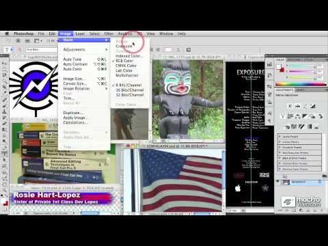 Photoshop CS5 204: Preparing Still Images For Final Cut Pro - 04 Choosing Color Modes