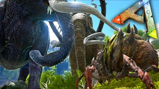 Ark Survival Evolved Mods - Mega Mammoths/Bronto Mod VS Broodmother - Gameplay 1080p HD